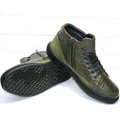 Мужские зимние ботинки на толстой подошве Luciano Bellini BC2803 TL Khaki.