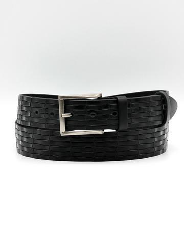 Ремень брючный чёрный 35 мм Doublecity RC33-01-06