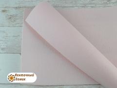 Фетр ЖЕСТКИЙ корейский пудровый 1,2 мм (лист 22*30 см)