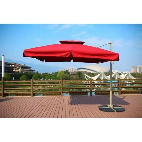 Зонт для кафе AFM-250SB-Bordo (2,5x2,5) МРК