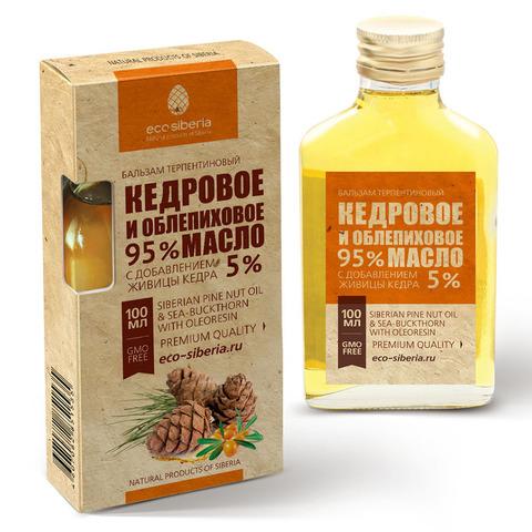 Кедровое и облепиховое масло с живицей кедра 5% ECO-SIBERIA, 100мл