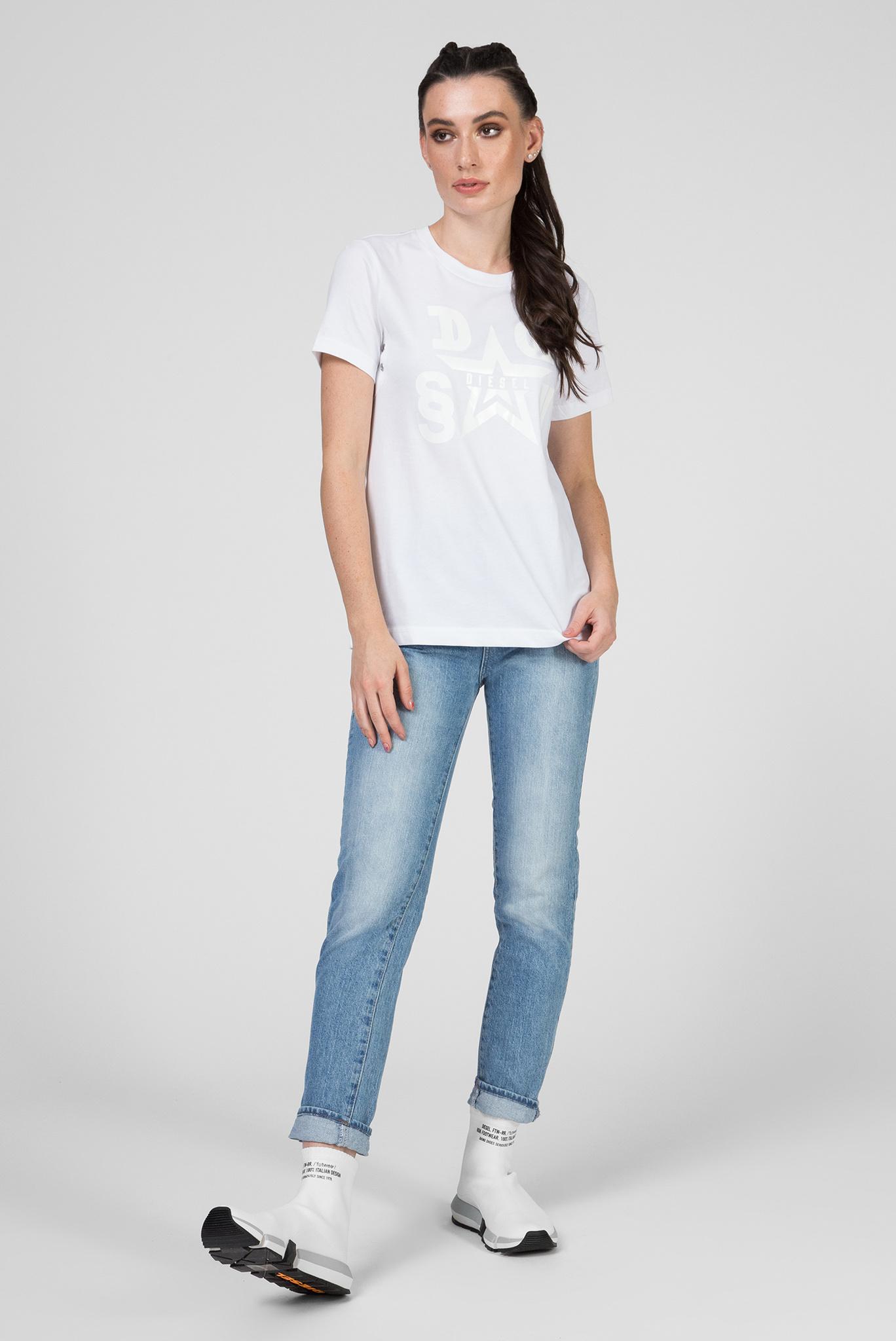 Женская белая футболка T-SILY-WMA MAGLIETTA Diesel