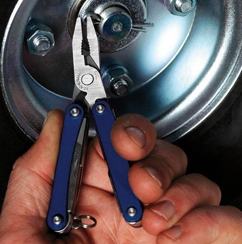 Мультитул-брелок Leatherman Squirt PS4 Blue, 9 функций (831230) цвет синий | Multitool-Leatherman.Ru