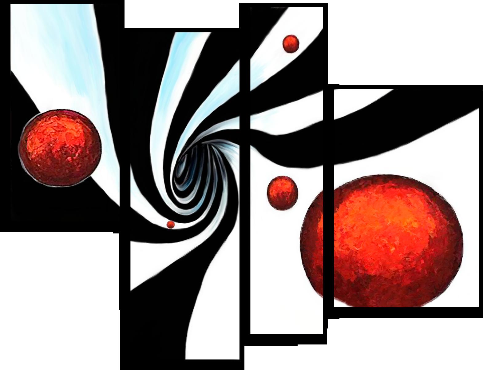 """Абстракция Модульная картина """"Пропасть в никуда"""" М240.png"""