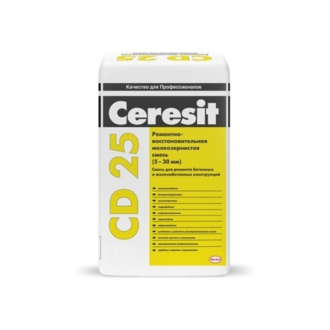 Ceresit CD 25/Церезит ЦД 25 мелкозернистая ремонтно-восстановительная смесь