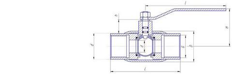 Конструкция LD КШ.Ц.М.080/070.025.Н/П.02 Ду80 стандартный проход