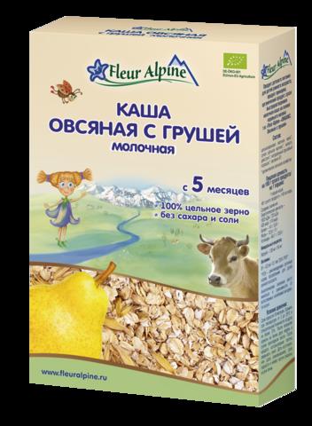 Каша молочная ОВСЯНАЯ С ГРУШЕЙ Fleur Alpine
