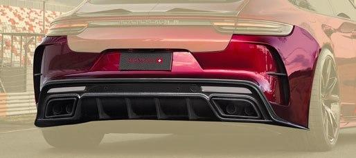 Карбоновый задний бампер Mansory Style для Porsche Panamera