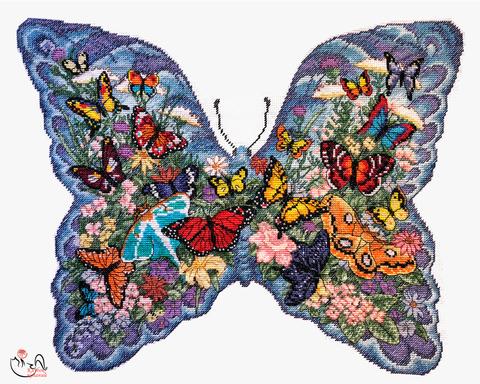 Набор для вышивания Летающие цветы. Арт. 3072