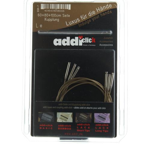Набор дополнительных лесок к Addi Click 60см. 80см, 100 см и соединительный элемент.