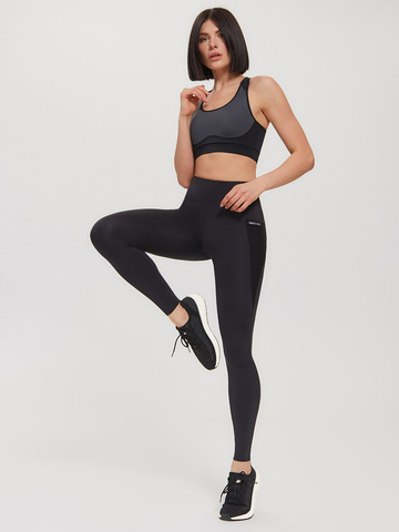 Леггинсы жен. для йоги и фитнеса черные