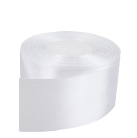 Лента атласная (размер: 50мм х 30м) Цвет:белая