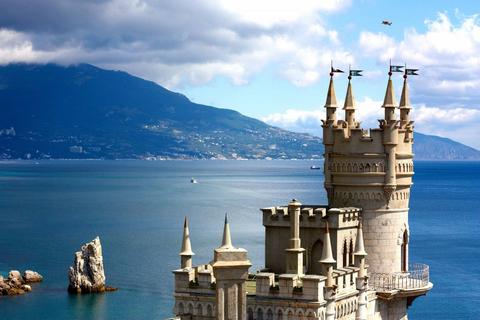 Картина раскраска по номерам 50x65 Замок на берегу моря