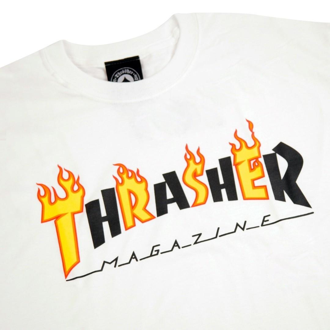 Футболка THRASHER Flame Mag (White)