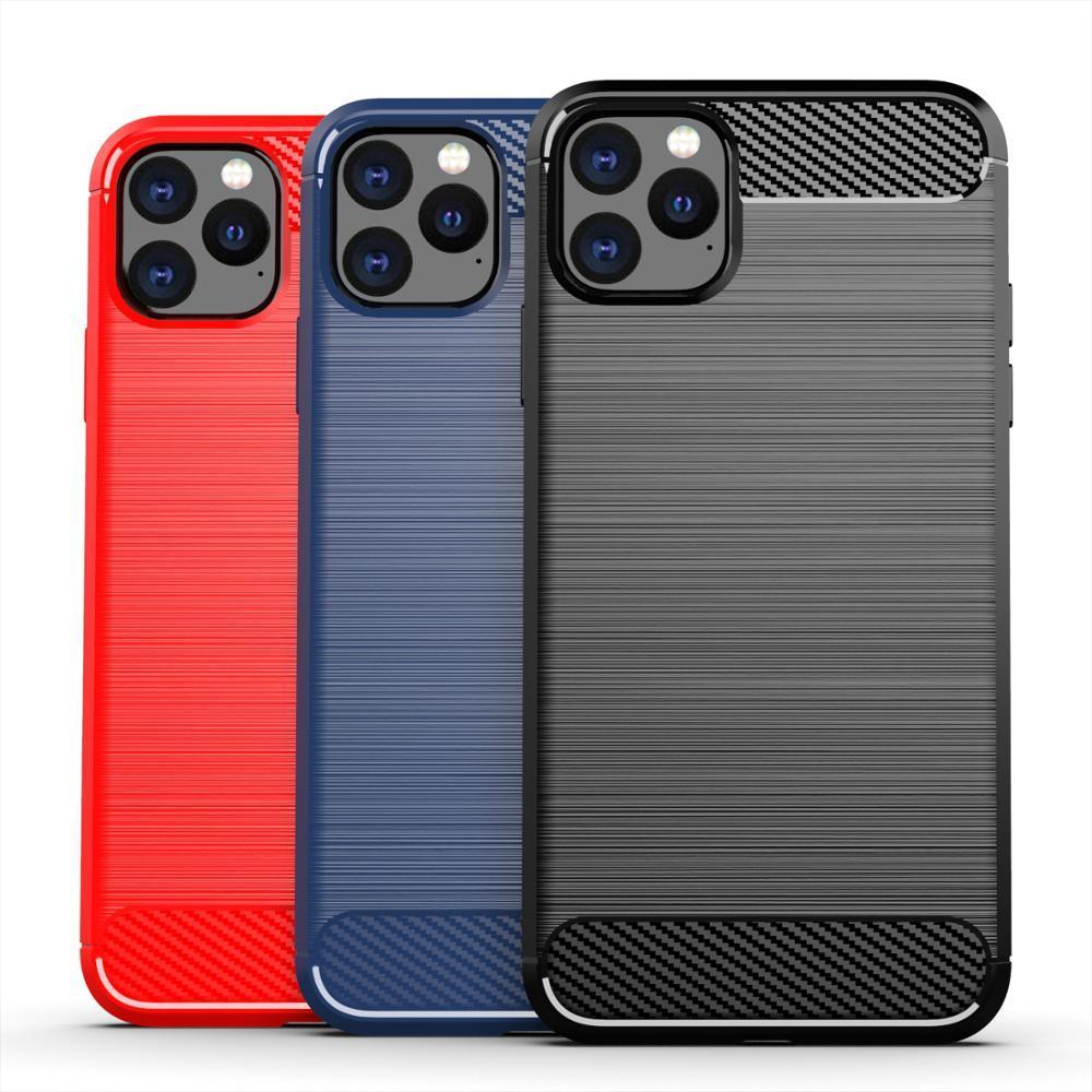 Чехол iPhone 11 Pro цвет Blue (синий), серия Carbon, Caseport