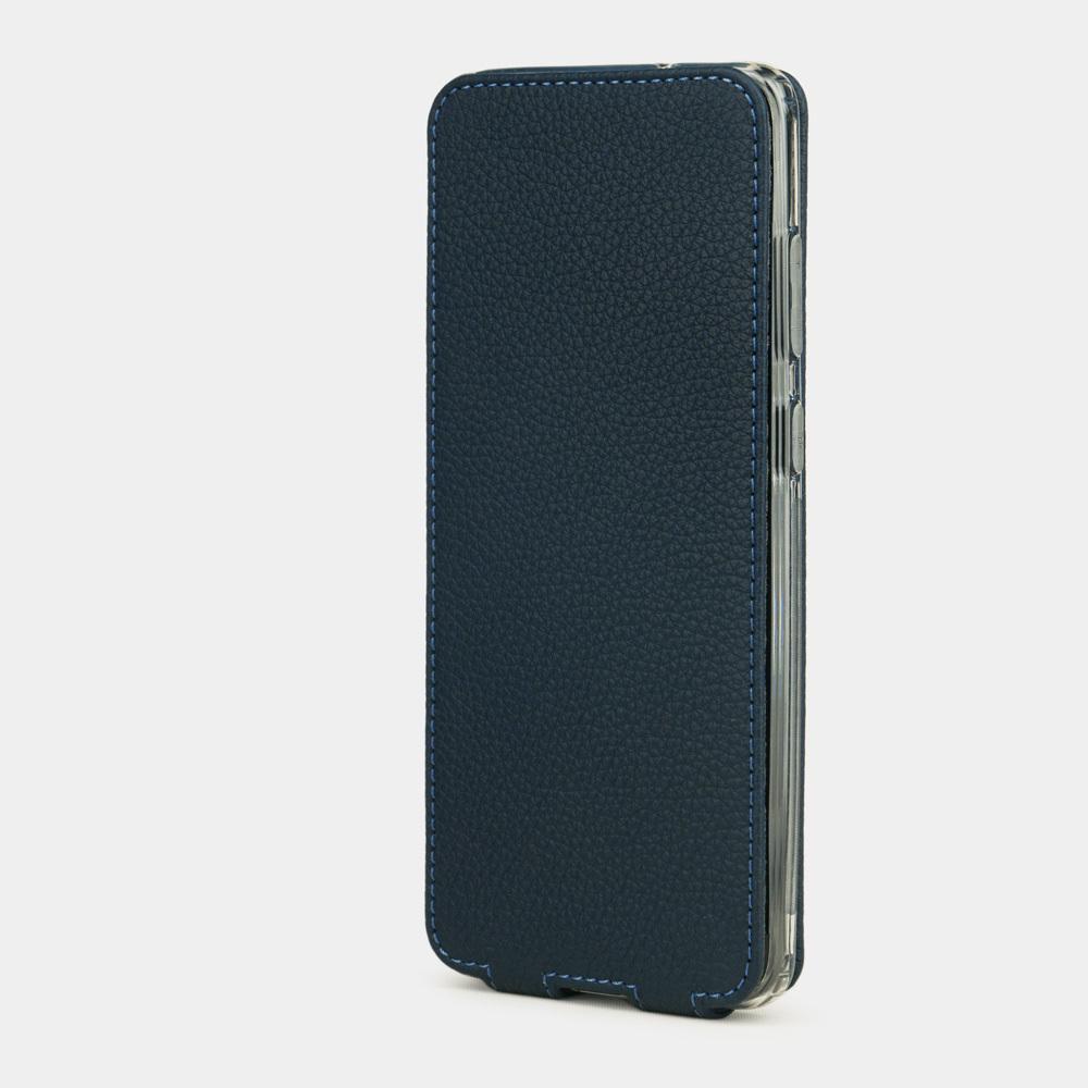 Чехол для Samsung Galaxy S20 из натуральной кожи теленка, цвета синий мат