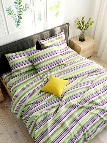 Простынь на резинке  -Аромат сирени- натяжная 90х200х26 см 1,5-спальная