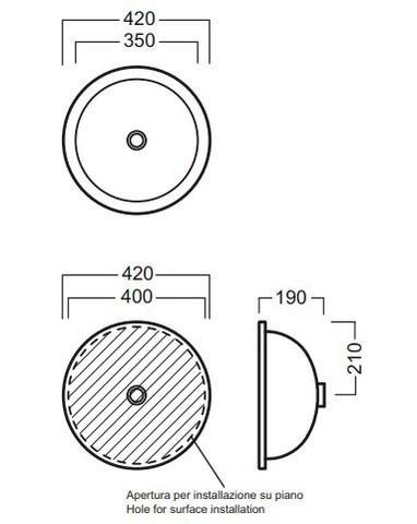 Рукомойник Hatria Boule  42 см