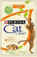 Пауч для кошек, Purina Cat Chow, курица с кабачком в желе