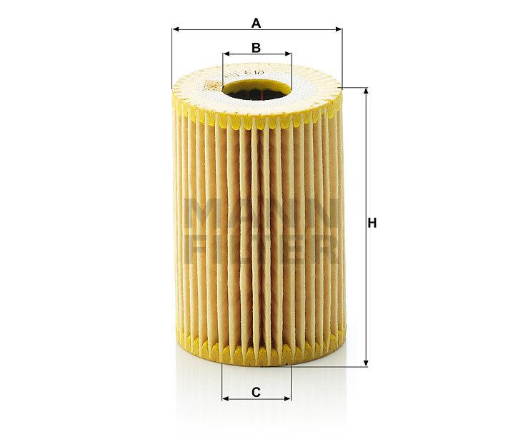 Фильтр масляный MANN HU 610 X