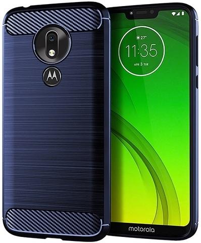 Чехол Motorola Moto G7 Power цвет Blue (синий), серия Carbon, Caseport