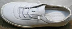 Стильные белые кеды женские кожа Rozen M-520 All White.