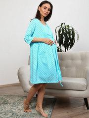 Мамаландия. Комплект для беременных и кормящих с отрезной кокеткой, звезды/голубой