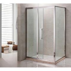 Душевое ограждение Grossman PR-120SQL серебро, 120х80 L, с раздвижными дверьми, прямоугольное