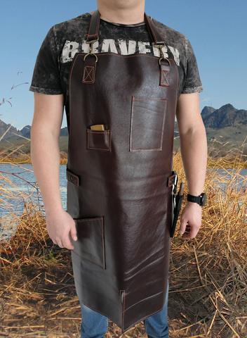 Мужской кожаный фартук