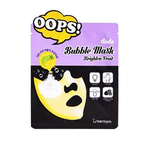 Berrisom Маска пузырьковая для сияния кожи Soda Bubble Mask Brighten Fruit, 1 шт