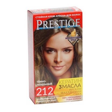Краска для волос Prestige 212 - Темно-пепельный, 50/50 мл.