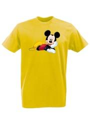 Футболка с принтом Микки Маус (Mickey Mouse) желтая 0012