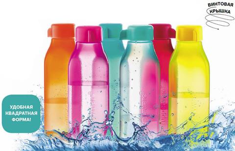 Эко бутылки квадратные