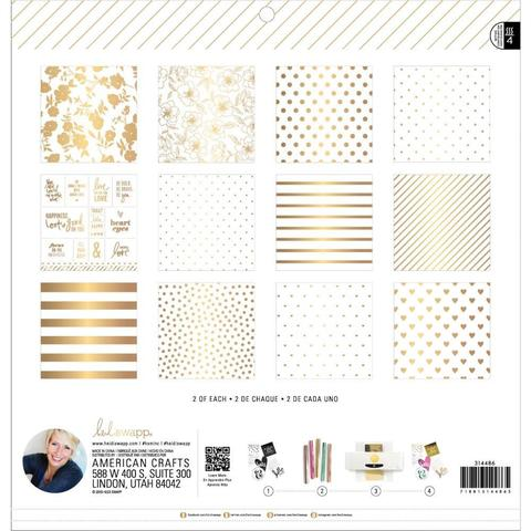 Набор бумаги 30х30см. для фольгирования-  Heidi Swapp Minc Reactive Paper Pad -24л, White