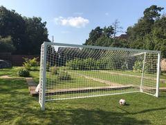 Ворота футбольные юниорские 5х2м переносные (кв. профиль 80х80мм)