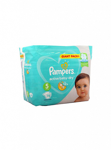 Uşaq bezi \ Подгузники \ Diapers Pampers 5 - 78 pcs