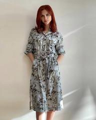 Платье-халат с поясом