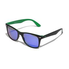Очки солнцезащитные 2K F-15025-B6  (чёрно-зелёный / зелёные revo)