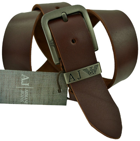 Мужской коричневый ремень Armani 3006