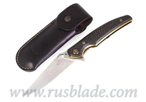 Cheburkov Golden Raven # 161 Damascus Gold Plated