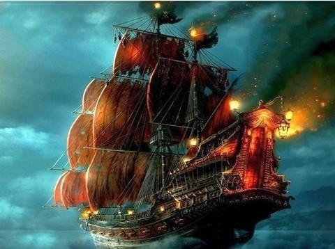 Алмазная Мозаика 40x50 Пиратский корабль (арт. S2879)