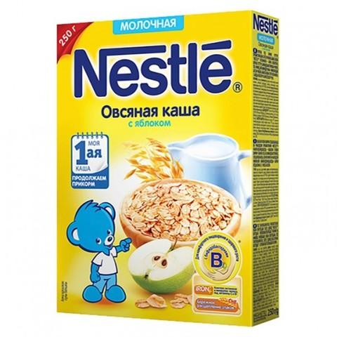Nestlé® Молочная овсяная каша с яблоком