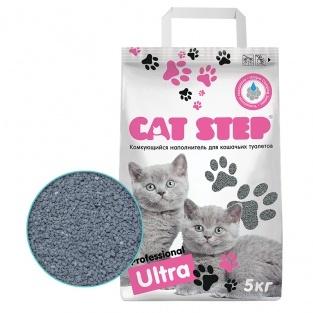 купить кет степ кэт стэп Cat Step Professional Ultra 5 кг наполнитель бентонитовый, комкующийся 5 кг