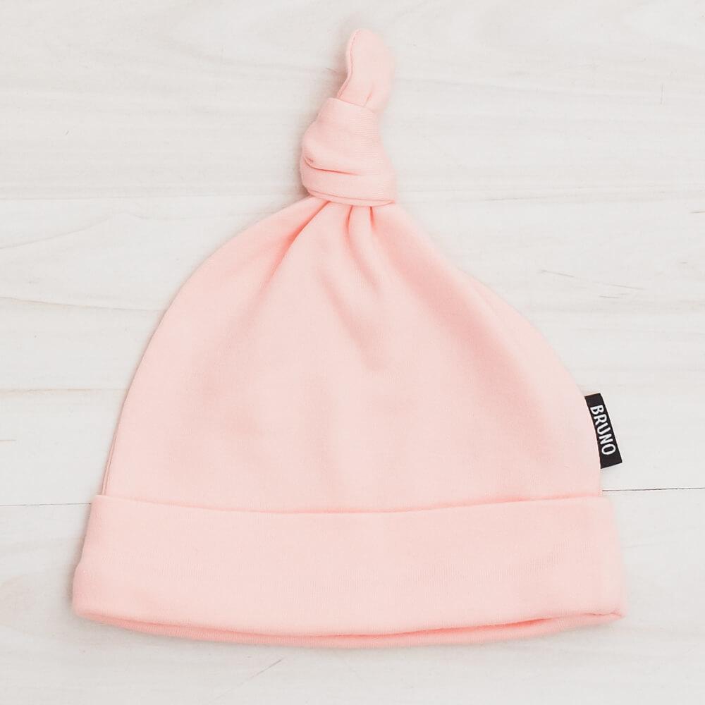 Шапочка с узелком «Soft pink»