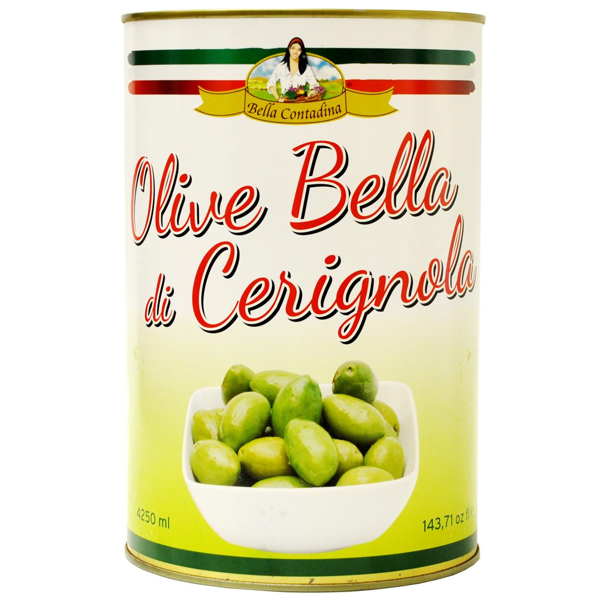 BC Натуральные оливки в рассоле  Bella Contadina ж/б 4250 мл