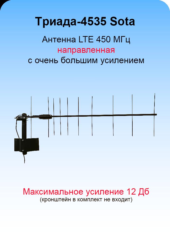 Триада-4535 SOTA/antenna.ru. Антенна LTE 450 МГц направленная на кронштейн