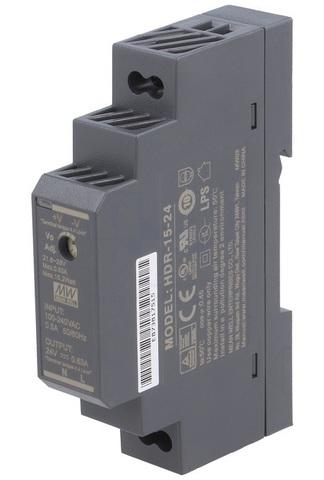 Источник питания Mean Well HDR-15-24