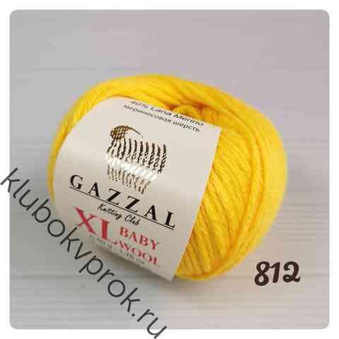 GAZZAL BABY WOOL XL 812, Яркий желтый