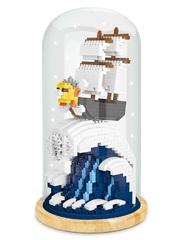 Конструктор в колбе Wisehawk Корабль Таузенд Санни 996 деталей NO. 2656 Thousand Sunny Keep Joy Series