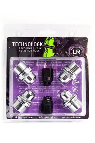 Секретные гайки колеса TECHNOLOCK LR М14x1.5x46 ключ=22 шайба (Special Edition)
